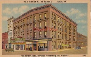 Image Is Loading Postcard General Pershing Hotel Dubois Pa