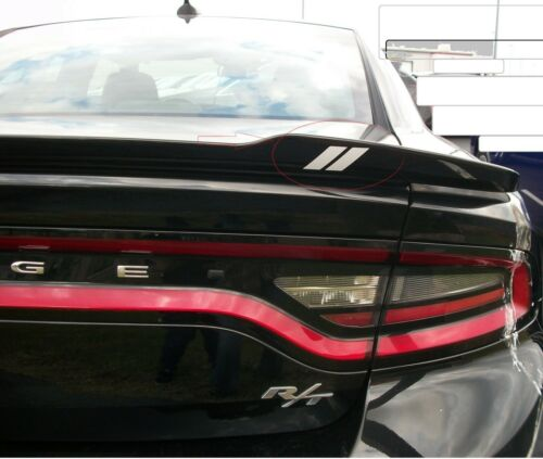 Sticker Decal Dodge Charger Challenger FITS Hash Mark stripe Spoiler Rear deck