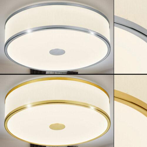 LED Decken Strahler messing Arbeits Zimmer Leuchte dimmbar Stoff Lampe  silber