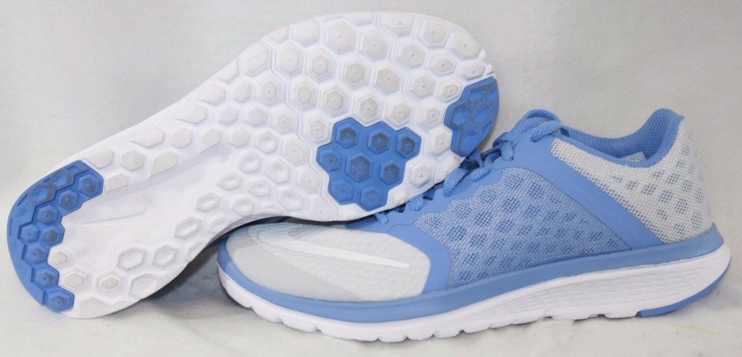 NEW Womens NIKE FS Lite Run 3 807145 009 Platinum Chalk Blue Sneakers Shoes