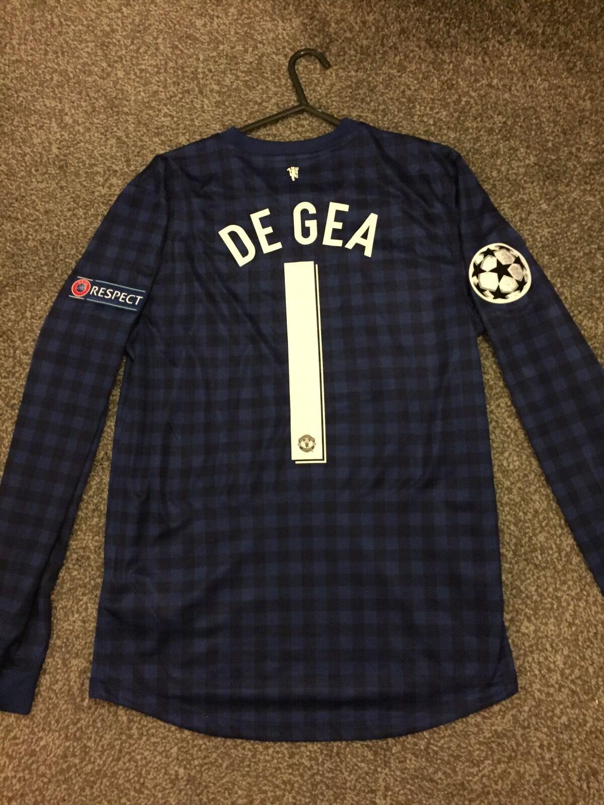 Manchester United 201213 PORTIERE CHAMPION LEAGUE maglietta adulti S 1 DE GEA Quintana