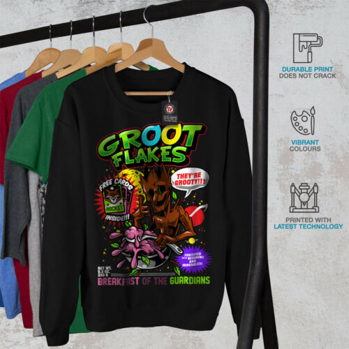 Flakes comica Felpa New Groot Black uomo da gOcfZ