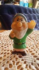 "Vintage Walt Disney Productions Grumpy Figure Squeaky Toy 5"""