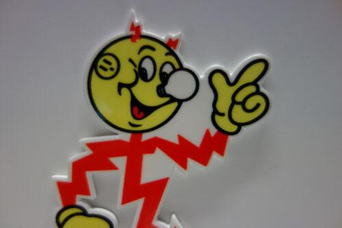 Reddy Kilowatt LICENSE PLATE TOPPER ELECTRIC COMPANY DIE CUT ELECTRICIAN GIFT A