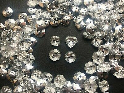 DIAMANTE MIXED SHAPE CRYSTAL BUTTONS GEM 2 HOLE SEWING CRAFT 10//20//50//100//200