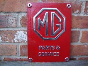 MG-sign-Garage-MGB-MIDGET-Magnette-Sign-heavy-cast-aluminium-discontinued-VAC141