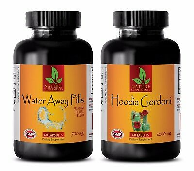 Energy Boost Capsules Water Away Hoodia Gordonii Combo Green