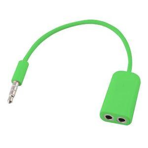 Verde-3-5mm-Separador-de-Auriculares-Jack-Macho-A-2-Doble-Hembra-Cable-Audio