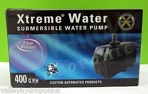 C.A.P. 400 GPH XTREME SUBMERSIBLE WATER PUMP Hydroponics Aquarium Pond (PMP040)