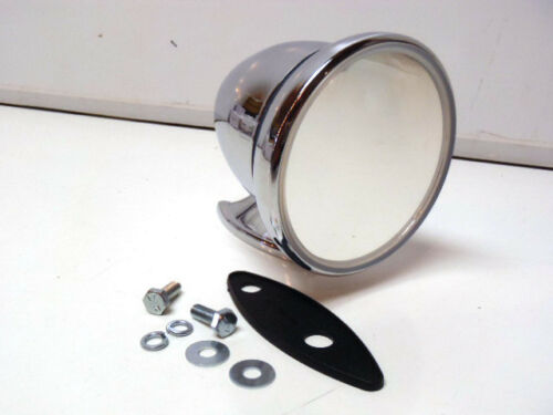 Fits Either Side Shelby GT Talbot Style Exterior Side Bullet Chrome Mirror