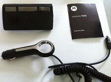 New Motorola T215 Bluetooth Portable Car Noise Cancel Speakerphone Black 89350N