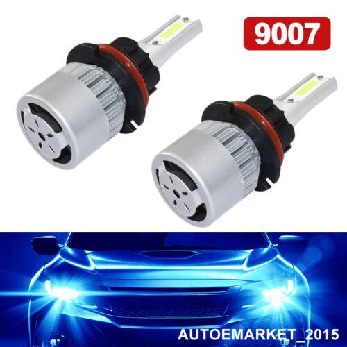 Pair 8000K 9007 HB5 LED Headlight Conversion Kit Hi//Lo Beam Bulbs Ice Blue Car