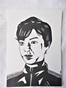 A4-Marker-Pen-Sketch-Sonequa-Martin-Green-Michael-Burnham-Star-Trek-Discovery-B