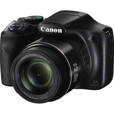 "CANON PowerShot SX540 HS Bridge Camera 20.3MP CMOS Sensor 3"" LCD Screen Black"