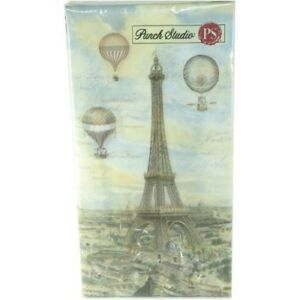 Punch-Studio-Guest-Towel-Napkins-43206-Balloons-Over-Paris-16-Napkins