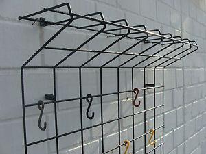 Das Bild Wird Geladen Vintage String Wire Wand Gitter Garderobe In Schwarz