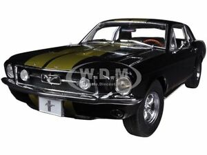image is loading 1967 ford mustang coupe black with gold stripes