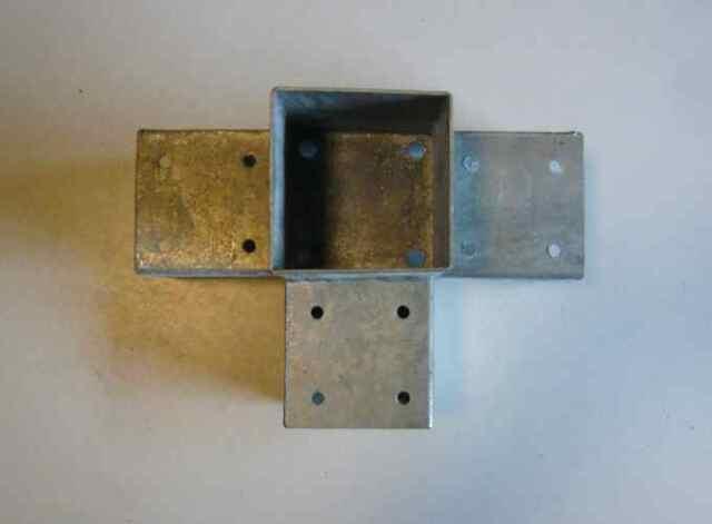 Pfostenschuh Holzverbinder Pfostenträger Aufschraubhülse mit CE50-150mm Verzinkt