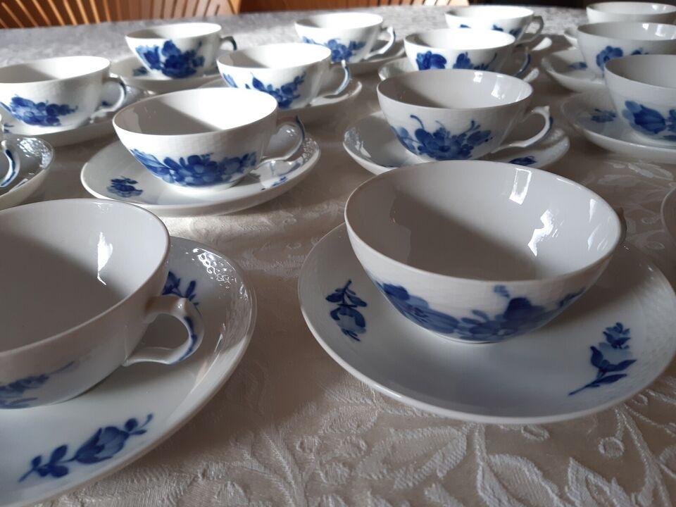 Porcelæn, Tekopper Blå Blomst flettet, Royal Copenhagen