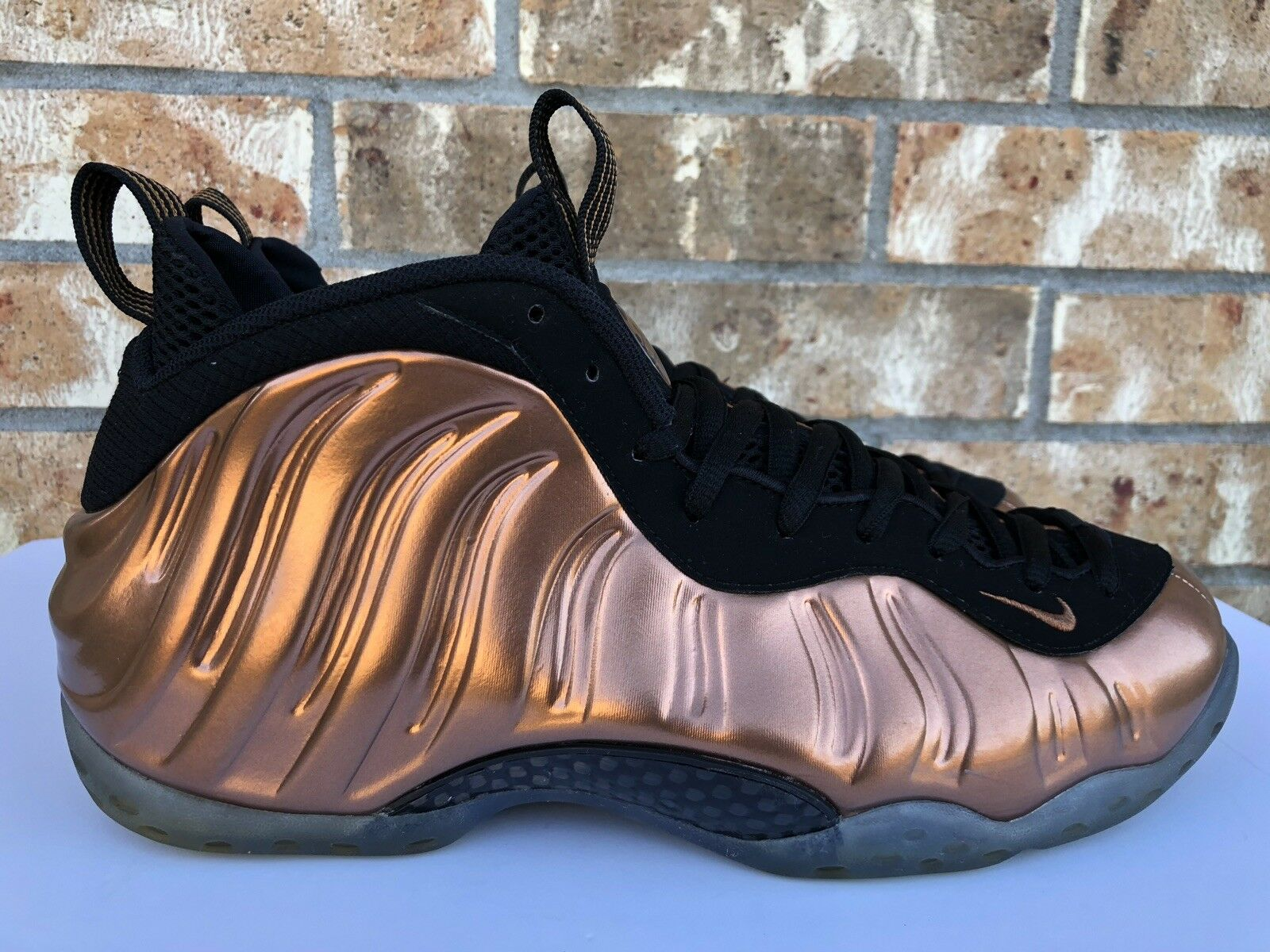 Men's Nike Air Foamposite One Metallic Copper gold OG 2017 Size 10.5 314996-007