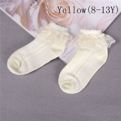 Summer Baby Girls Kids Toddler Socks Cotton Lace Princess Ankle Mesh Socks PVCA