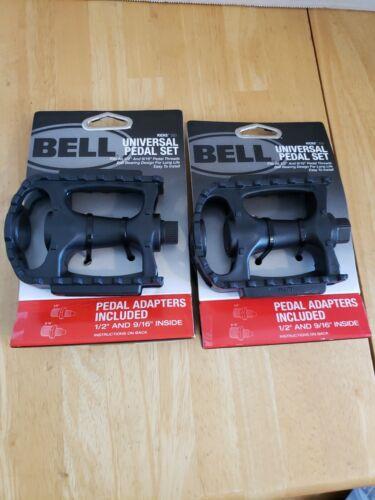 """9//16/"""" Noir Lot de 2-BELL Kicks 350 Universal Vélo Pédale sets convient 1//2/"""""""