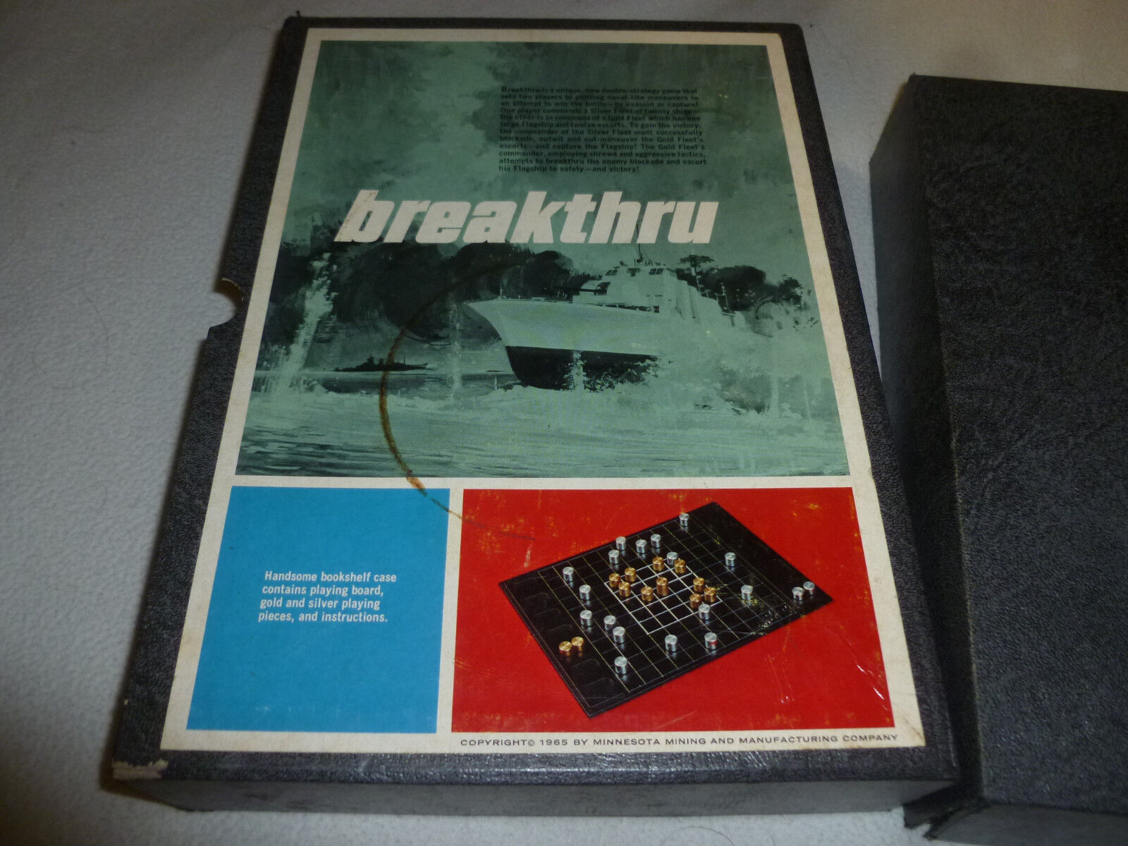 3m game breakthru board complete vintage 1965 thru bookshelf boardgame break thru 1965    eea2ac