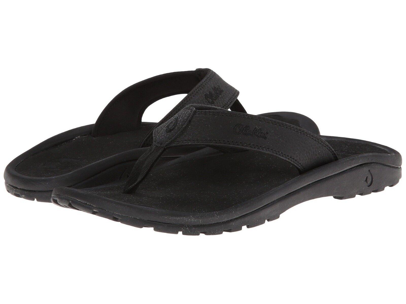 Uomo scarpe OluKai Ohana Casual Sandals Sandals Sandals 10110A-4040 nero New 6b279e