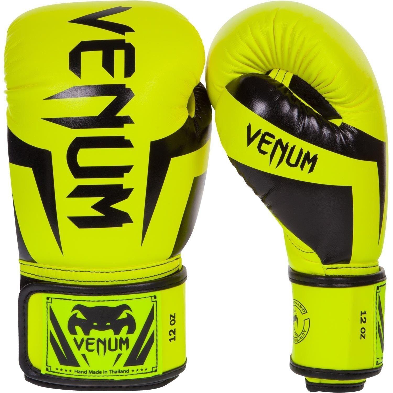 Venum Elite Boxing Gloves Neo Gelb MMA MMA MMA Sparring Muay Thai Gloves 10oz d9983e