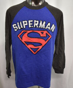 Superman-Youth-Raised-Letters-and-Logo-Shirt-XL-14-16