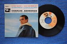 CHARLES AZNAVOUR / EP BARCLAY 70388 / VERSO 4 LABEL 1 / BIEM 12-1961 ( F )