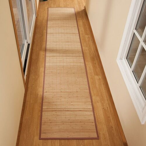 bamboo rug runner mat 23 x 118 floor kitchen long carpet area rubber large mats