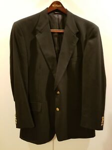 Austin Reed London Dillards Black Suit Jacket Blazer With Carrying Case Mens 44r Ebay