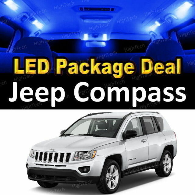 For 2007 - 2017 2018 Jeep Compass LED Lights Interior Package Kit BLUE 6PCS eBay