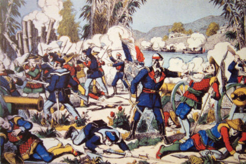 French Vietnam Combat of Nam Dinh 1883 Classic Repro Art Print 7x5 inches