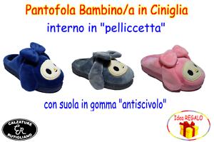 CIABATTE-BAMBINA-PANTOFOLE-ROSA-GRIGIO-BLU-CONFORT-ANTISCIVOLO-B7781