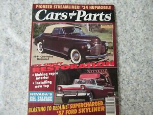 Cars Parts Magazine Apr 93 41 Chevy 57 Chevy 57 Ford Free Shipping Ebay