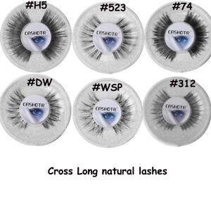 SKONHED-1-Pair-Lollipop-False-Eyelashes-Soft-Long-Cross-Handmade-Eyelashes-New