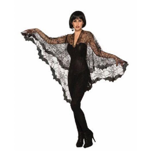Bat Poncho Womens Adult Black Halloween Costume Accessory for sale online  8655d282e3
