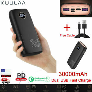 LED Fast Charger 30000mAh Portable External Battery Power Bank for Cell Phone