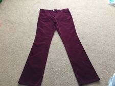 M&s Ladies Berry Cord Trouser Pants Size 14 Medium BNWT Free Sameday P&p