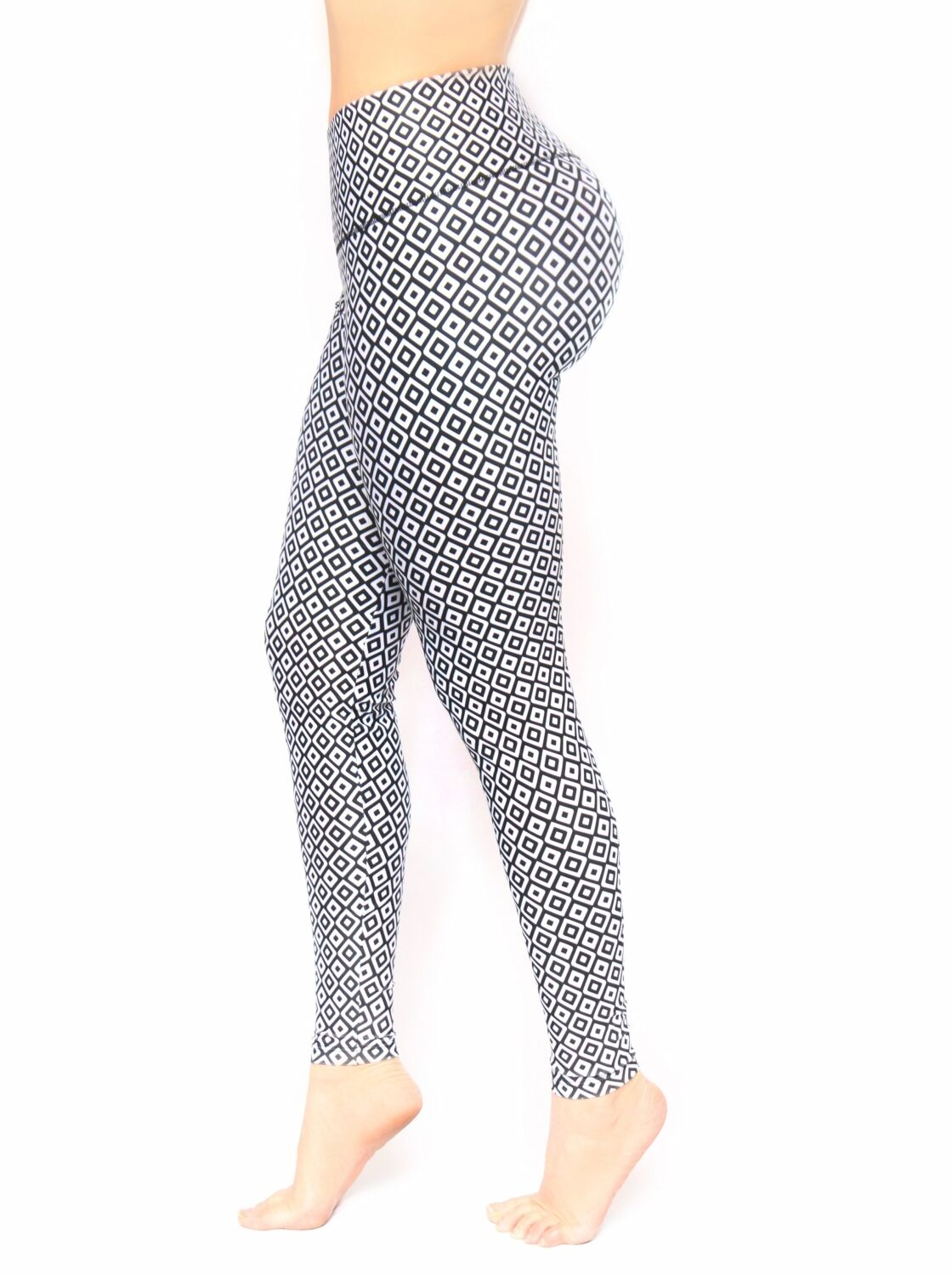 Bon Bon Up Compression Leggings with internal body shaper multycolor stamped1128