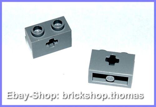 32064 NEW Lego Technic 2 x Lochbalken Technik Brick Light Bluish Gray NEU