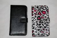 Cell Phone Wallet Case Samsung Galaxy S4 Lot Black & Pink Leopard Spot