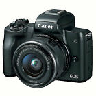 Canon EOS M50 24.1MP Mirrorless Digital Camera with  EF-M 15-45mm f/3.5-6.3 IS STM Lens Kit - Black