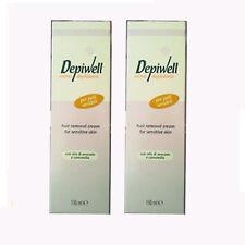 Crema depilatoria uomo donna pelli sensibili 150 ml Depilwell  conf. 2
