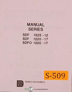 Servo Dynamics SDF 1425-12, SDF 1220-17 1068, Servo Power Amplifiers Manual 1984