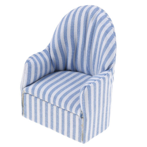 1:12 dollhouse miniature furniture stripe sofa chair for bed room living room YN