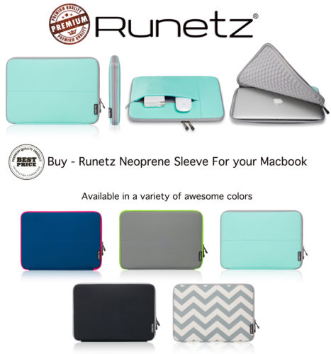 Sleeve for MacBook 12 inch Laptop Air 11 Neoprene Cover Case TEAL//GRAY Runetz