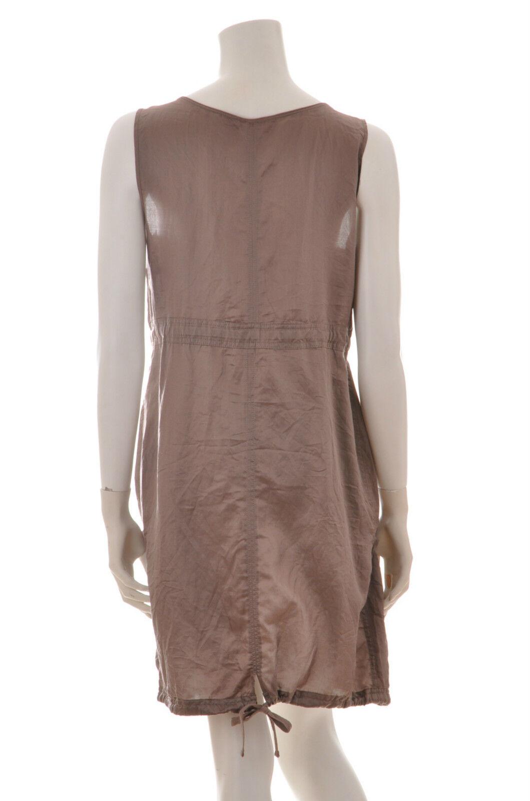 Edc by ESPRIT Kleid Kleid Kleid  Hängerchen  milky braun Baumwolle Seide Gr. 38 UNGETRAGEN dab4a6
